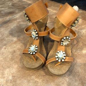 Madison By Shoedazzle Embellished Wedge Sandal